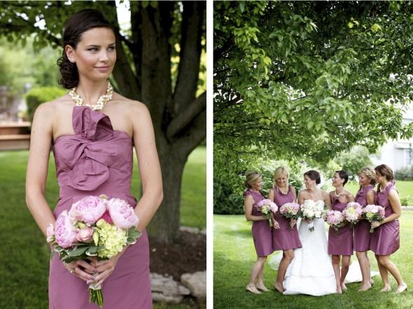 Modern Pink Vintage Bridesmaids Dresses