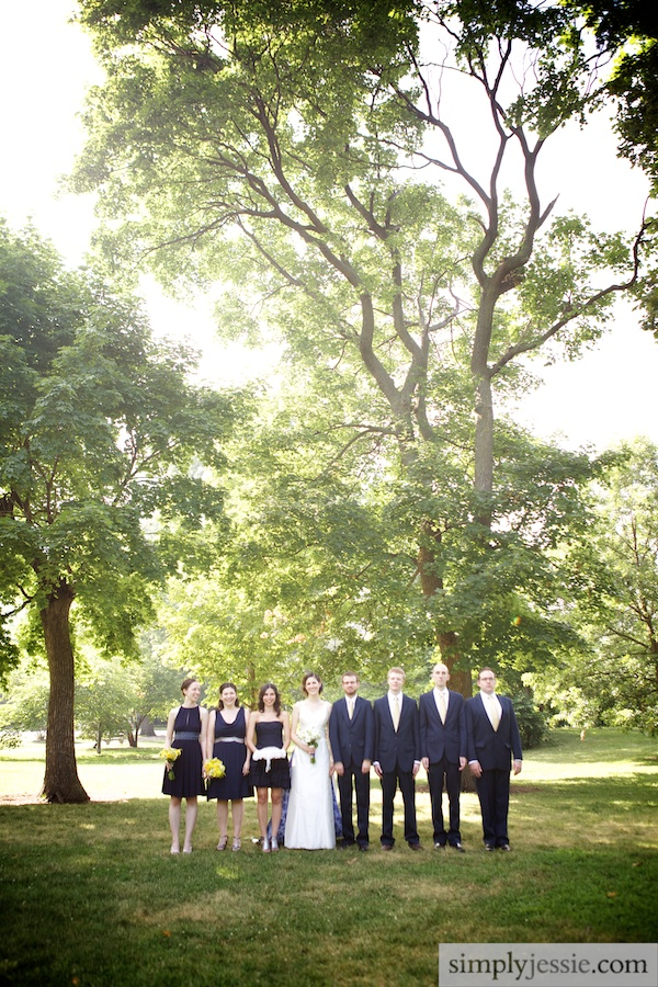 Bridal Party in Lincoln Park