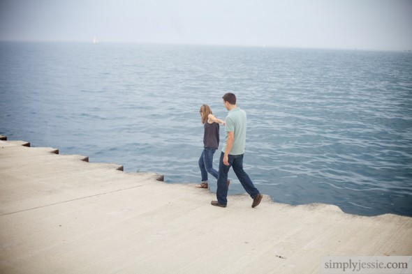 Engagement Session by Lake Michigan