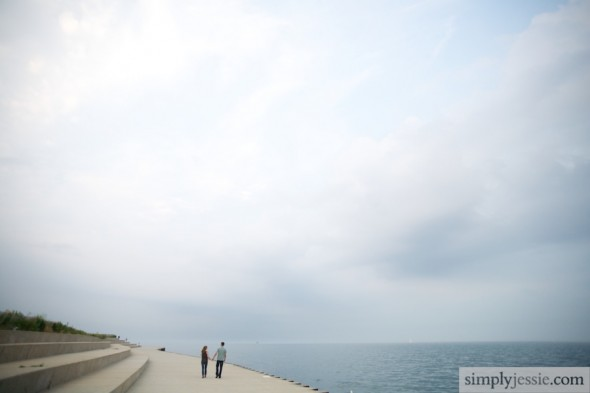 Lake Michigan Chicago Engagement Photography