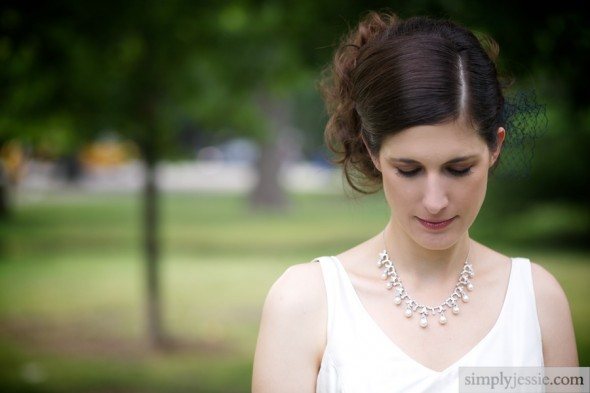 Untraditional bridal portrait