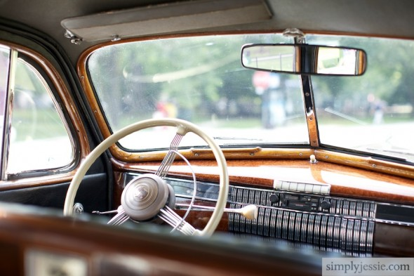 Vintage Car at wedding