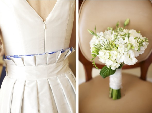 White bridal flowers