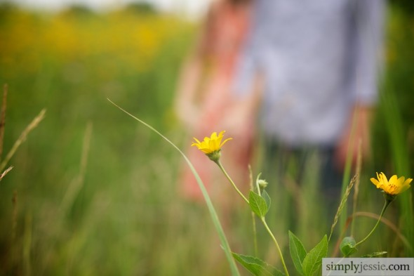 Yellow Flower Engagement Photography