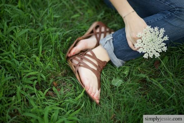 Wildflower & Sandals Engagement
