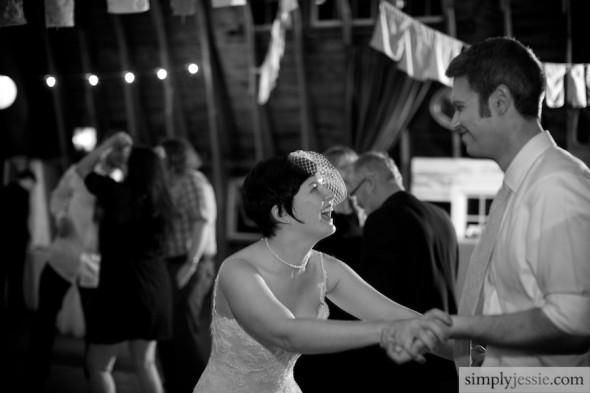 Dancing at wedding in Michigan