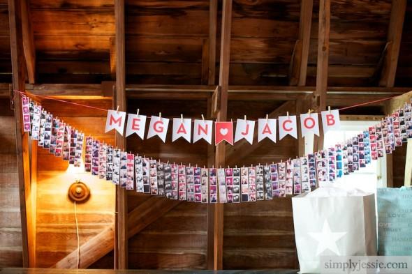 PhotoStrip Decor at Wedding