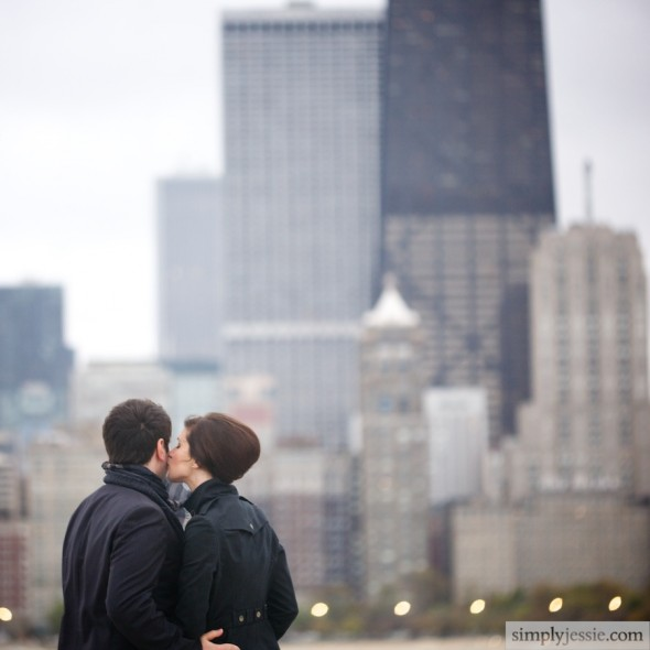 Chicago Skyline Couple Photography