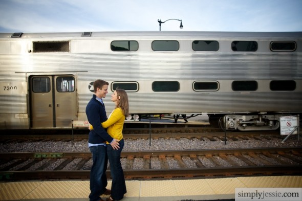 Engagement Photography with Train