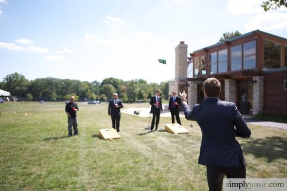 Groomsman lawn games