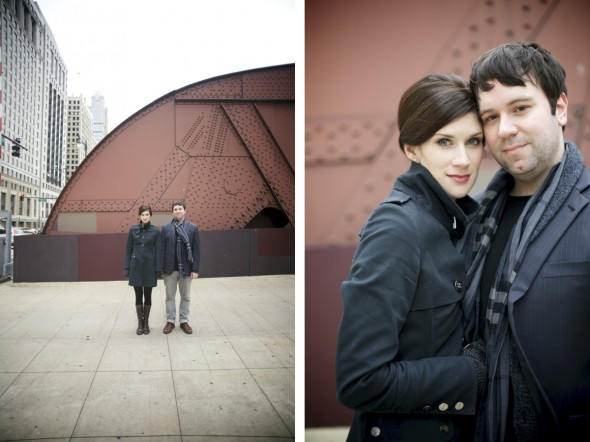 Natural Engagement Photography Downtown Chicago