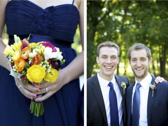 Orange-yellow wedding bouquet