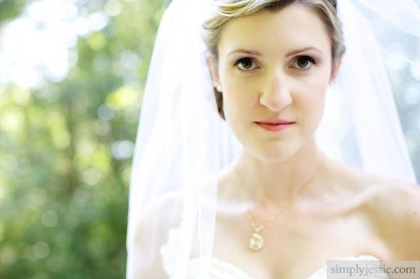 Untraditional bridal portrait