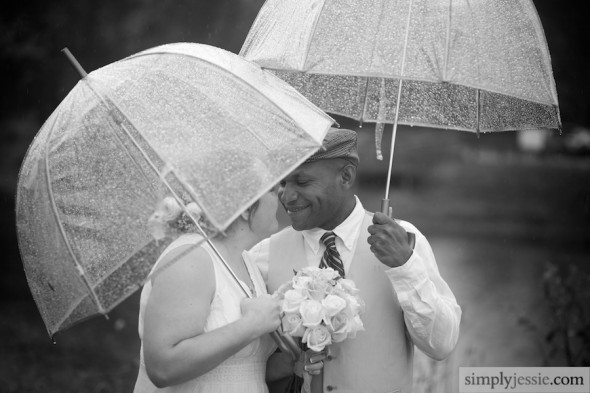 Wedding in Rain