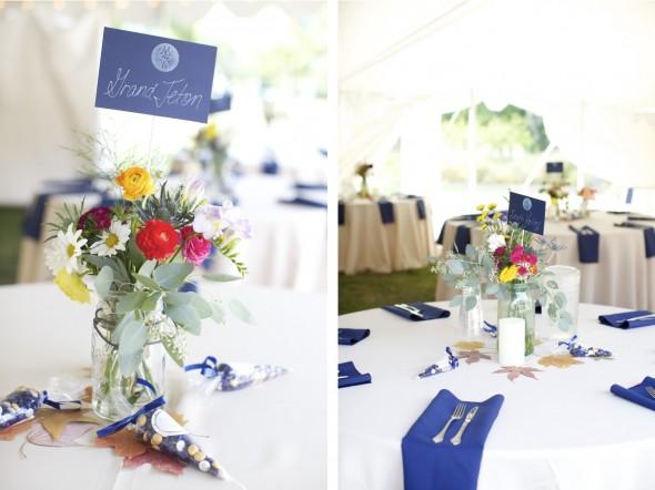 white wedding tablesettings