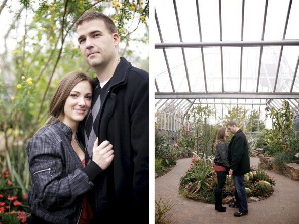 Chicago Botanic Greenhouse Engagement