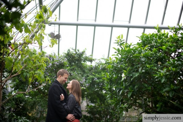 Wedding & Engagement Photography in greenhouse