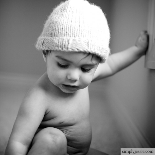 Modern B&W Baby Photography