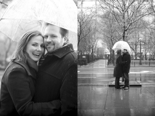 Under umbrella engagement session