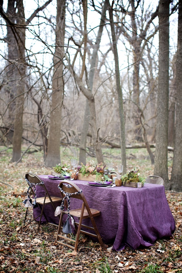 Woodland Inspiration Table setting