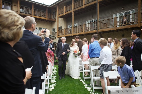 Garden Wedding at Herrington Inn Geneva IL