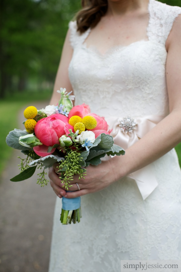 Vintage Garden Wedding Bouquet