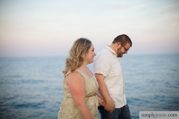Lake Michigan Engagement Photography