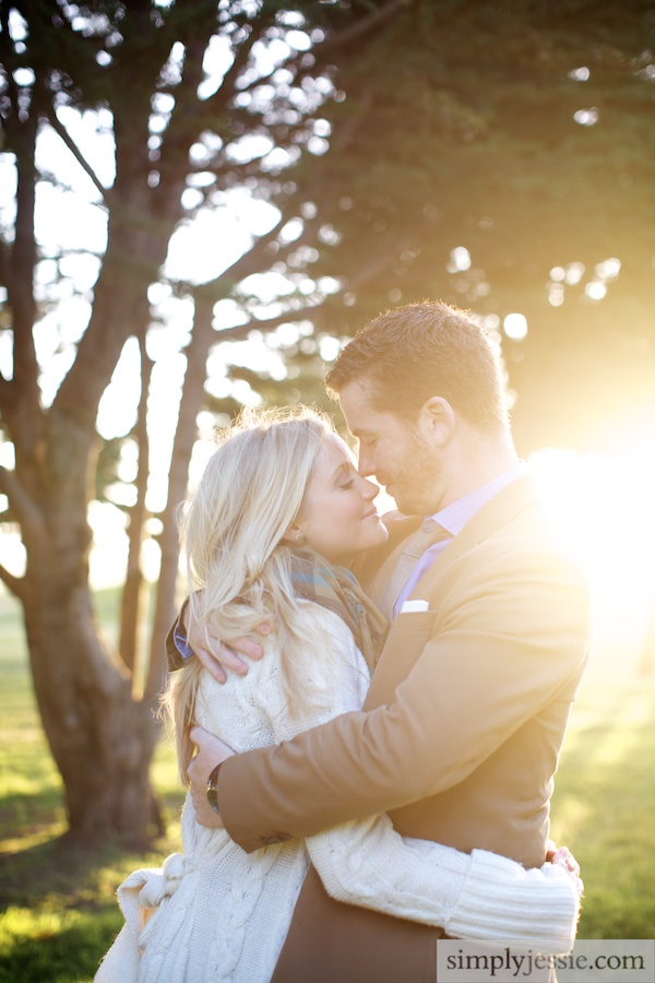 Emotional SF Engagement Photography