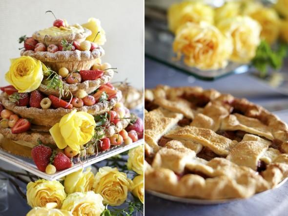 pie as wedding cake