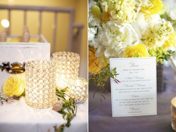 yellow grey wedding
