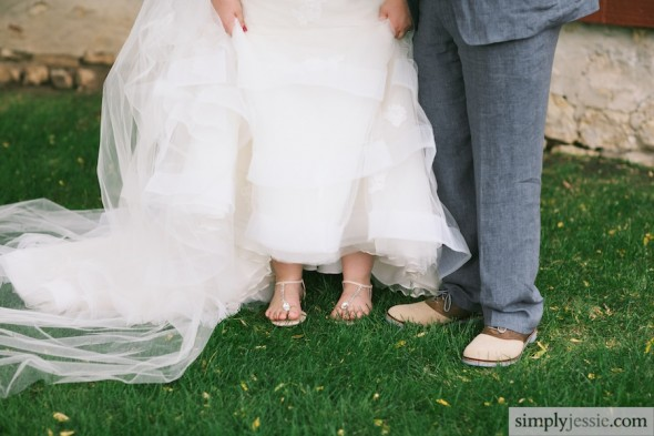 Bride & groom shoes