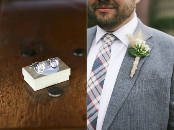 plaid groom tie