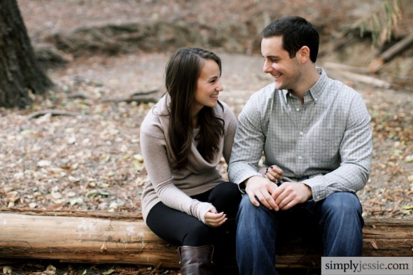 Redwood Forest Engagement Photography