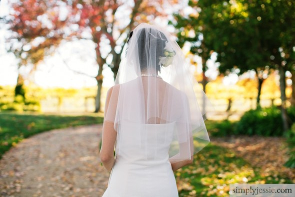Bride walking at Vintner's Inn