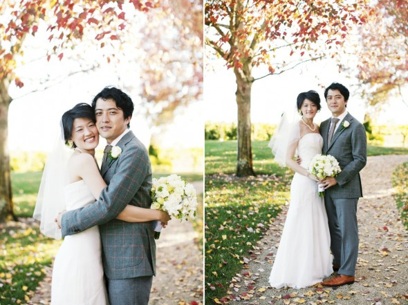 Fall wedding photography at Vintner's Inn