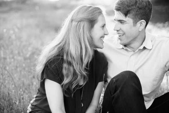 Black & White Engagement Photography