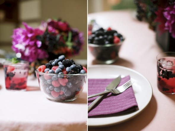 Summer fruit table setting