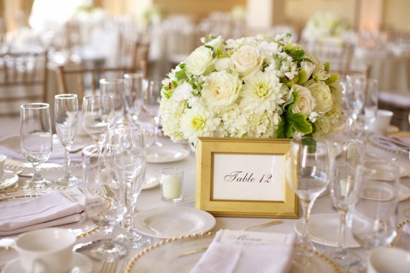 Classic White wedding decor