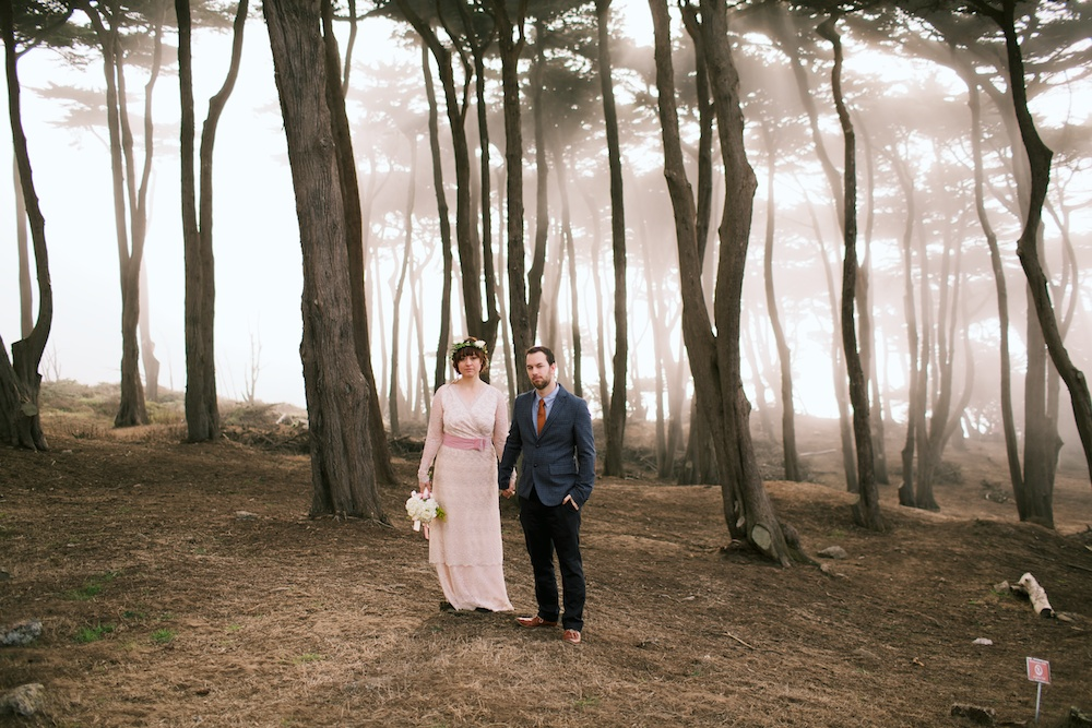 Foggy Lands End Wedding Photography
