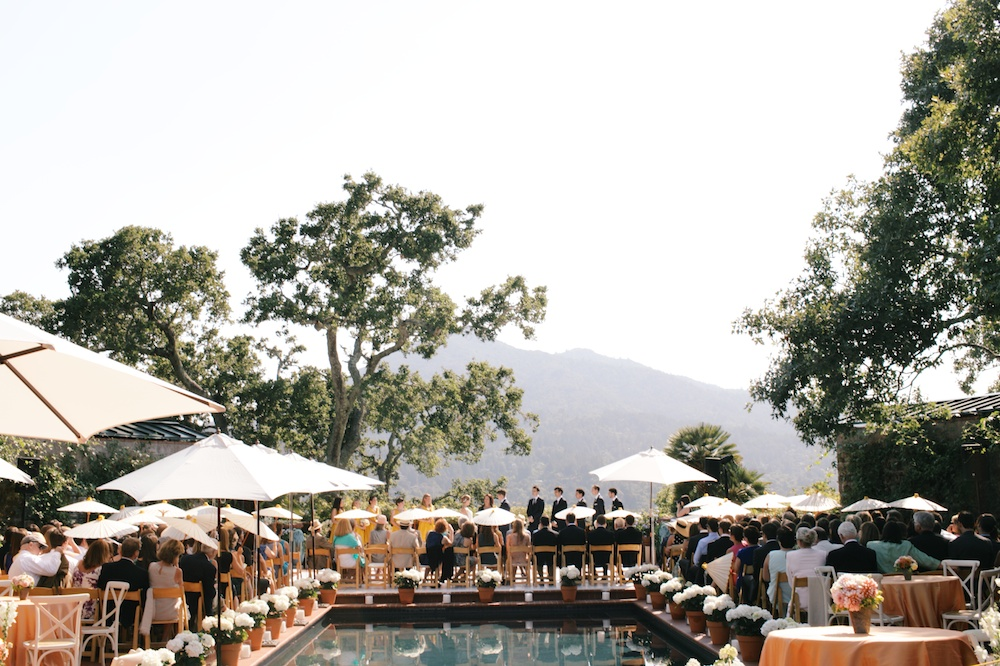 Backyard Wedding overlooking Mt Tam