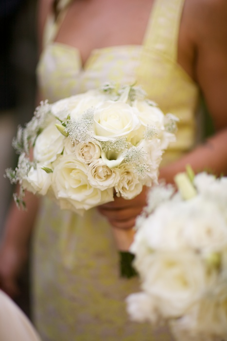 Queen Annes Lace bridesmaids bouquet