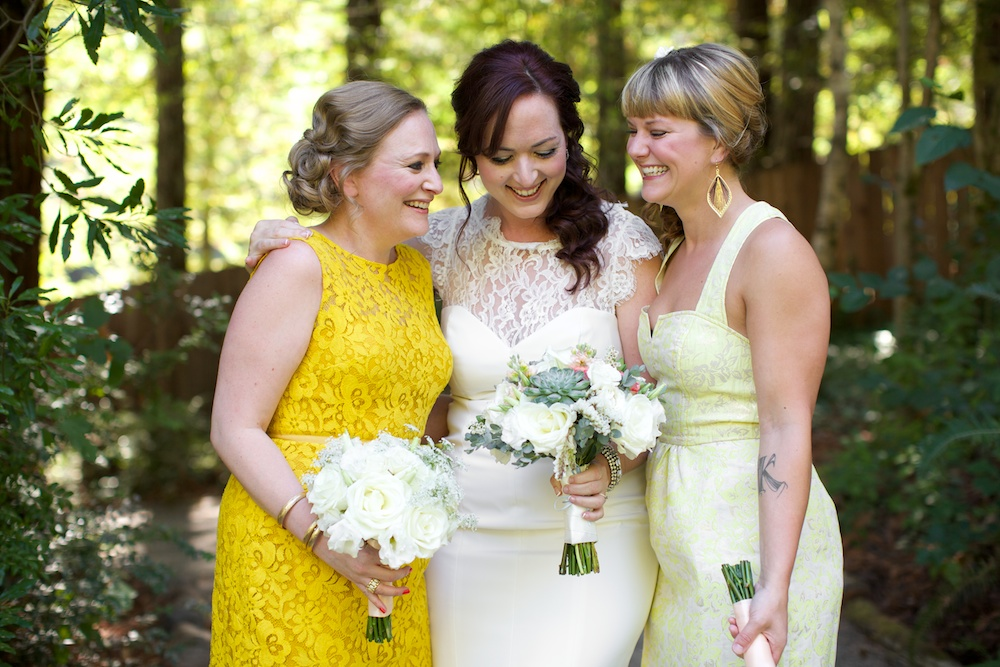 Yellow Lace Bridesmaids