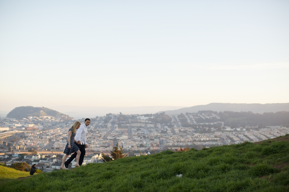 Bernal Hill San Francisco Engagement Photography