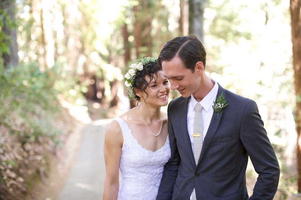 Small Woodland Wedding Santa Cruz California