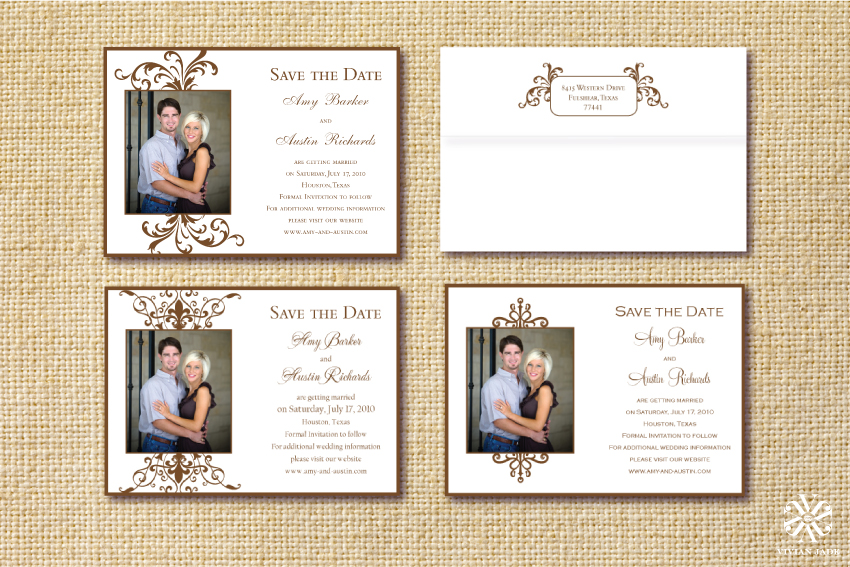Amy & Austin Photo Save the Date Cards   Alternate Designs Shown