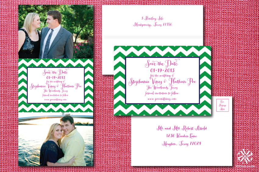 Stephanie & Nathan Modern Save the Date Photo Cards | Adam Nyholt Photographer
