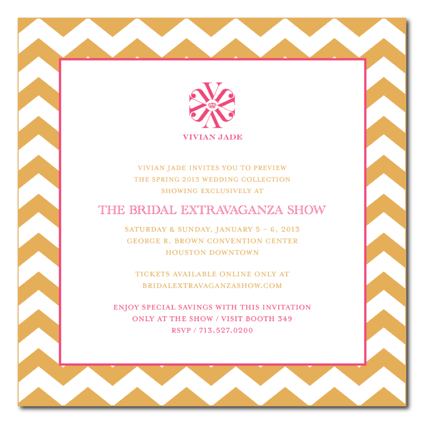 Visit Vivian Jade at The Bridal Extravaganza Show 2013 in Houston, Texas. Buy your tickets online at BridalExtravaganzaShow.com