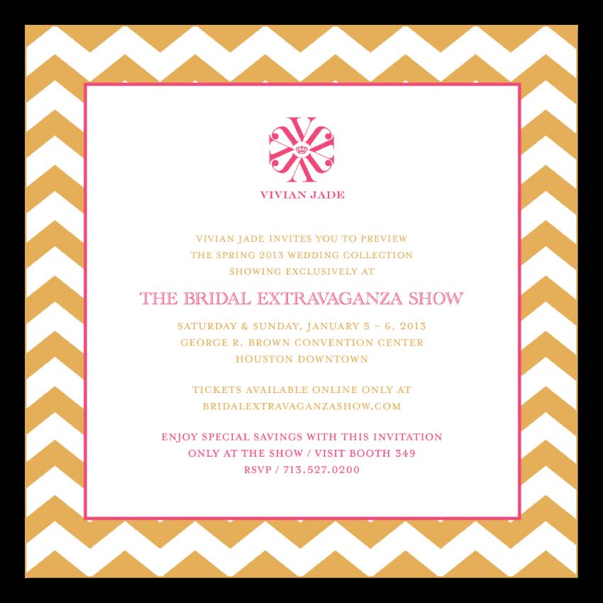 Visit Vivian Jade at The Bridal Extravaganza Show 2013 in Houston, Texas. Buy your tickets online at BridalExtravaganzaShow.com