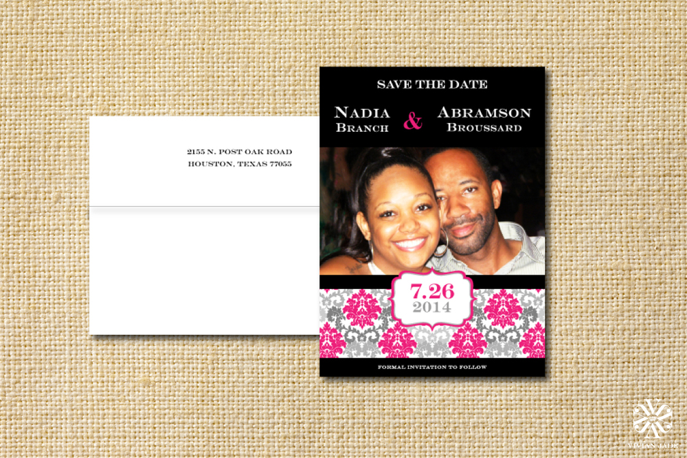 Nadia & Abramson Magnetic Save the Date