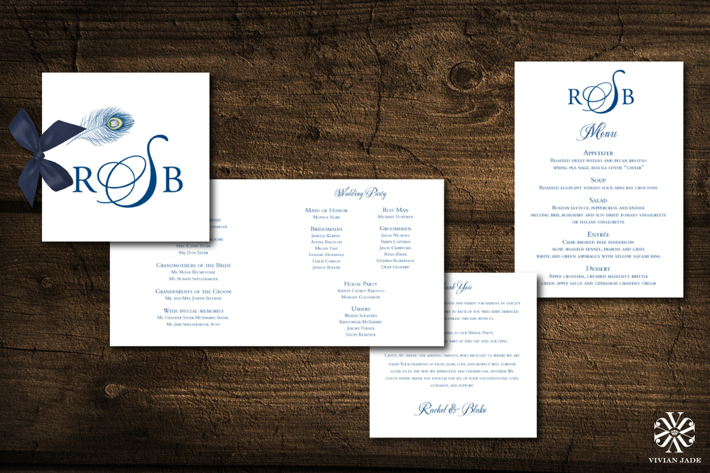 Rachel & Blake  Programs and Menu Cards